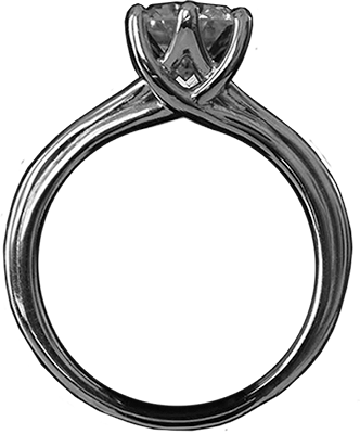 2Lips Solitaire ring