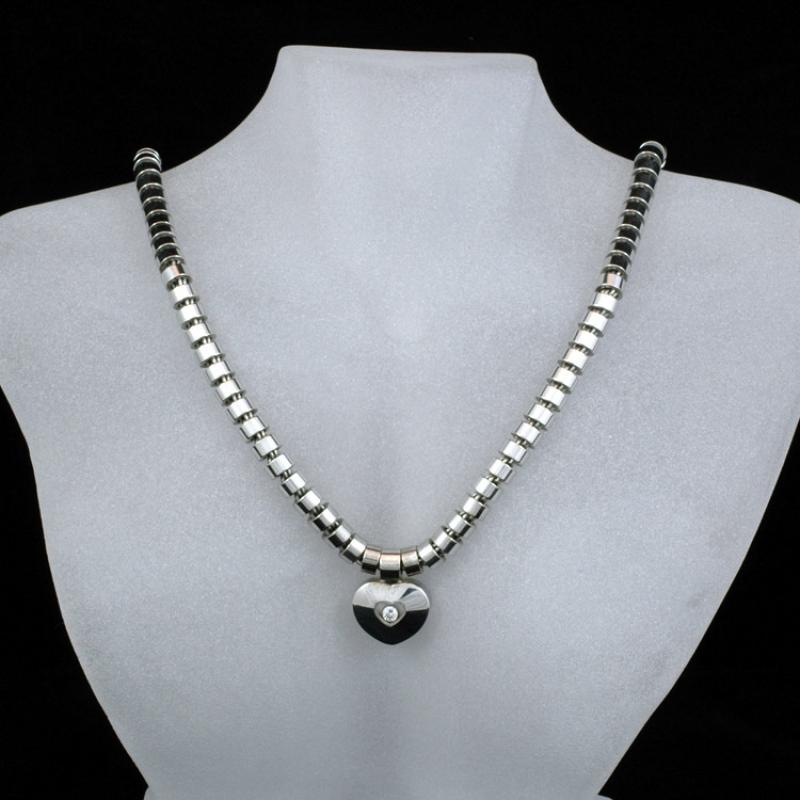 10 000 Up Diamond: Chopard Collier Chopard 18k Gold Happy Diamond Necklace