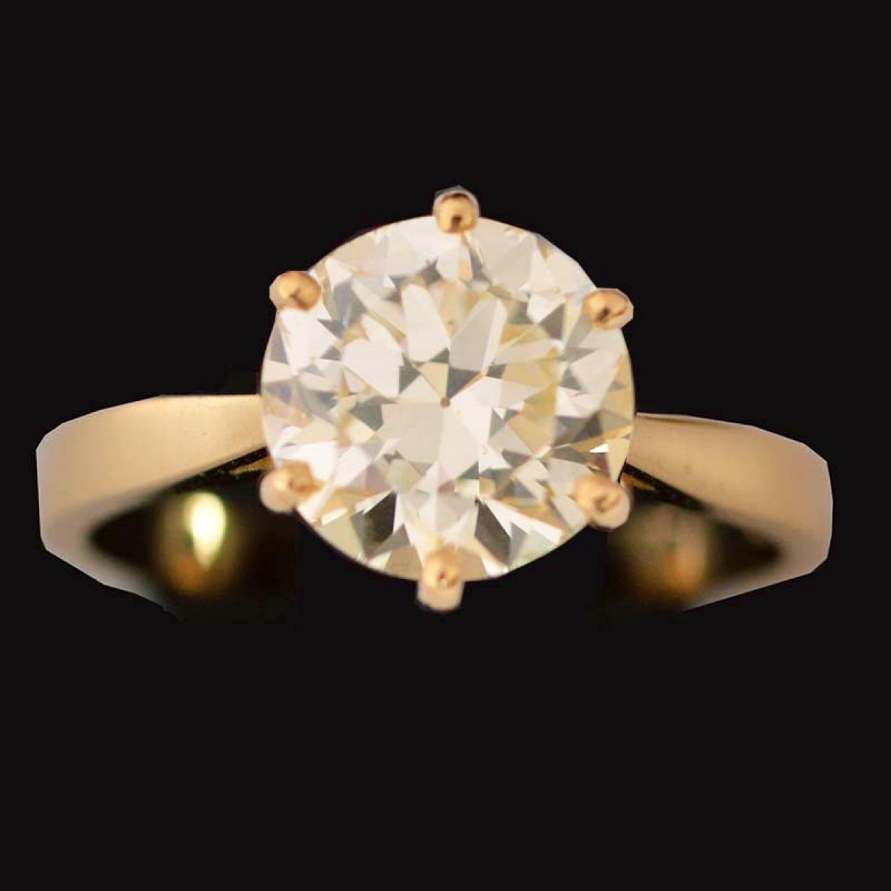 2.33 crt diamanten solitair ring
