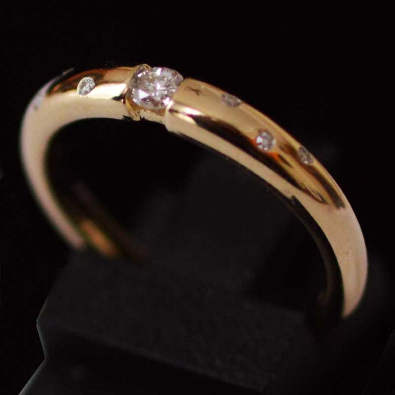 14-krt-goud-diamanten-etoile-ring