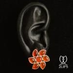 2lips-flower-tulp-carneool-oorbellen-oorstekers-ontwerper-david-aardewerk-juwelier-18k-goud-keukenhof-dutch