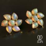 2lips-flower-tulp-opaal-oorbellen-oorstekers-ontwerper-david-aardewerk-juwelier-18k-goud-keukenhof-dutch-design