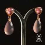 18k-goud-2lips-colours-oorbellen-natuurlijke-ongeverfde-agaat-roze-toermalijn-designer-david-aardewerk-juwelier