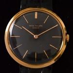 patek-philippe-calatrava-referentie-2591-heren-pols-horloge-met-zwarte-wijzerplaat-1959