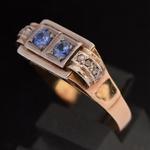 40er-jaren-rose-goud-platina-natuurlijke-saffier-retro-ring