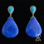 18k-goud-2lips-colours-oorbellen-lapis-lazuli-turkoois-designer-david-aardewerk