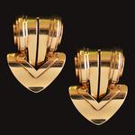 een-stel-geel-gouden-clip-broches-cartier-van-cleef-arpels-raymond-yard-art-deco-retro