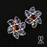 2lips-flower-tulp-tanzaniet-rubelliet-toermalijn-oorbellen-oorstekers-ontwerper-david-aardewerk-juwelier-18k-goud-keukenhof-dutc